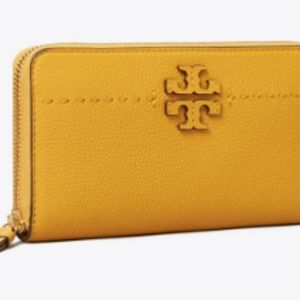 NWT Tory Burch MCGRAW ZIP CONTINENTAL WALLET
